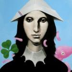 """Dame de Trefle"" — 45 x 55"